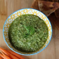 Earth Day Carrot Top Pesto