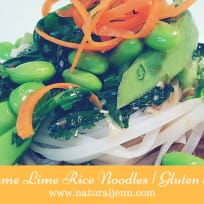 Sesame Lime Asian Inspired Noodles