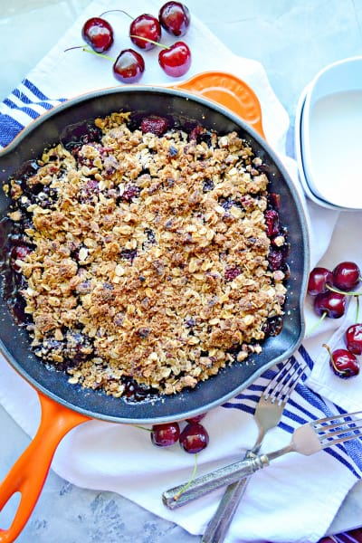 Dairy-Free Skillet Cherry Crisp Picture
