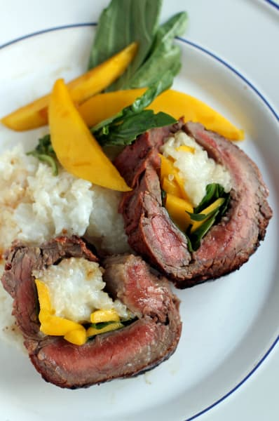 Grilled Stuffed Flank Steak Picture