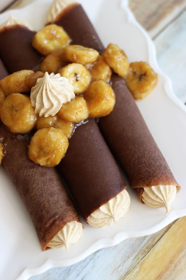Chocolate Crepes with Peanut Butter Marshmallow Filling Picture