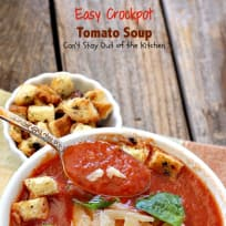 Easy Crockpot Tomato Soup