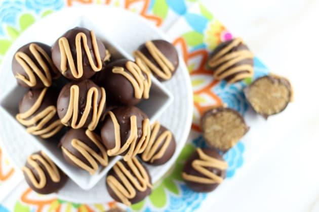 Chocolate Peanut Butter Cake Truffles Photo