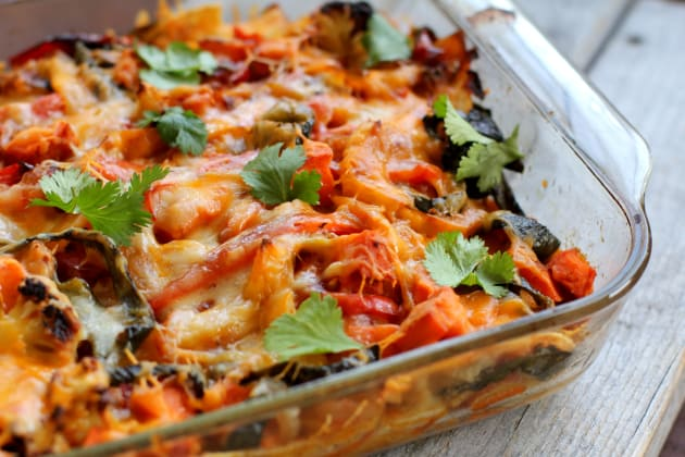 Roasted Vegetable Enchiladas Photo