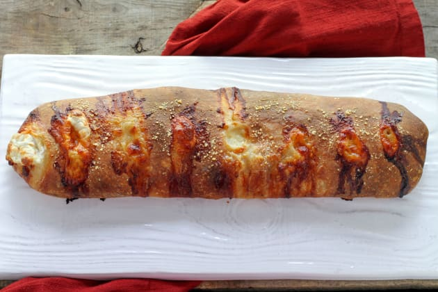 Roasted Red Pepper Prosciutto Stromboli Photo