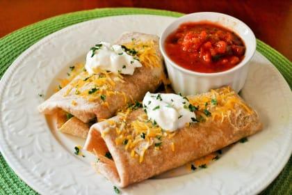Rotisserie Chicken Avocado Burritos