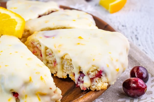 Glazed Cranberry Orange Scones Photo