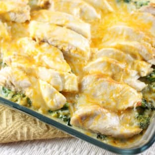 Chicken broccoli and rice casserole photo