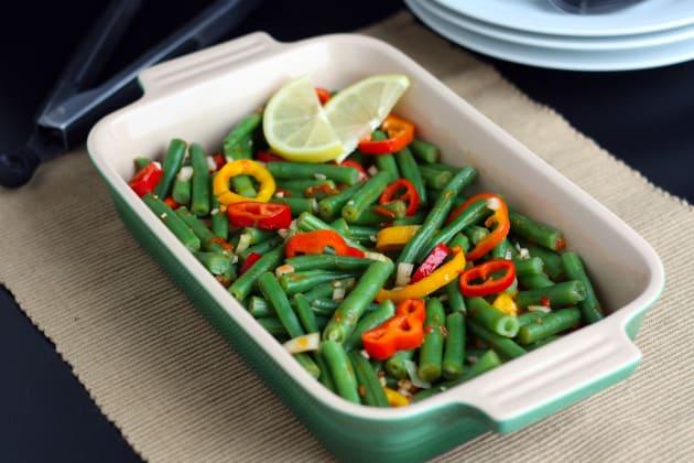 Green Bean Salad with Lemon Harissa Dressing Photo