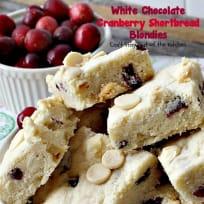 White Chocolate Cranberry Shortbread Blondies