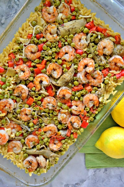 One Pan Lemon Artichoke & Shrimp Orzo Image