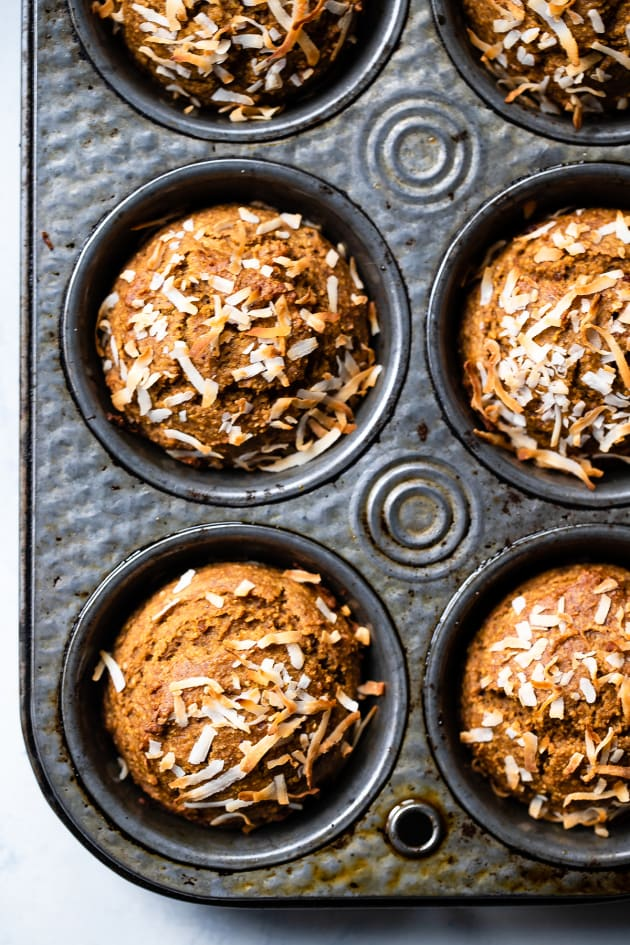 Sugar Free Gluten Free Oatmeal Carrot Muffins Image