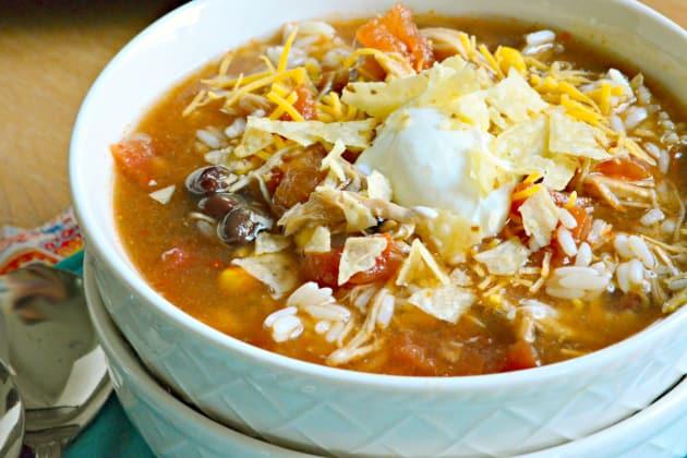 Slow Cooker Chicken Enchilada Soup Photo