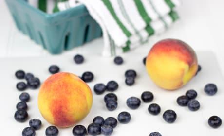 Peach Blueberry Cobbler Picture