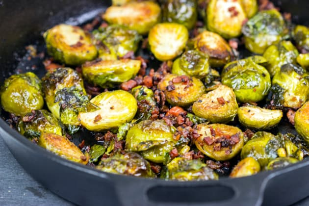 Roasted Brussels Sprouts with Pancetta Photo
