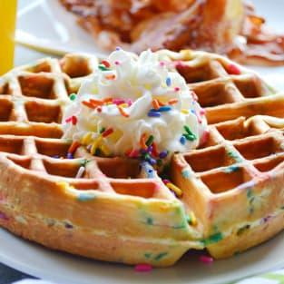 Funfetti waffles photo