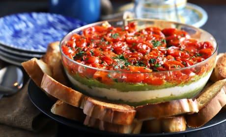 鳄梨乳清番茄酱层蘸料
