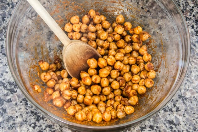 Chickpeas in Mixing Bowl