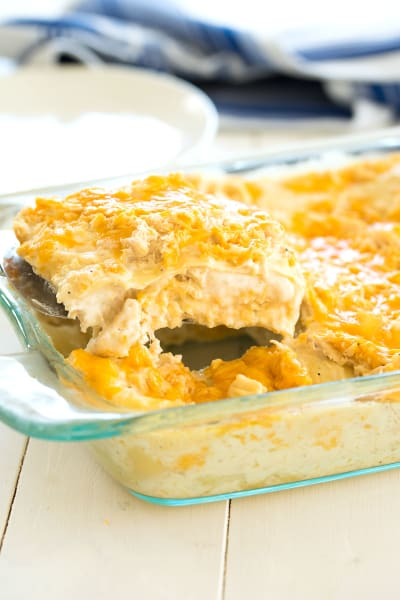 White Chicken Lasagna Picture
