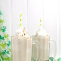Irish Coffee Milkshake with Whiskey Whipped Cream