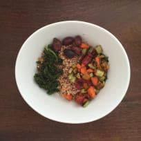 Farro Salad with Swiss Chard, Olives, and Garlic (Vegan)