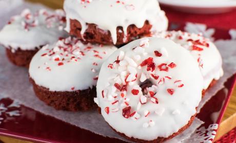 Red Velvet Peppermint Donuts
