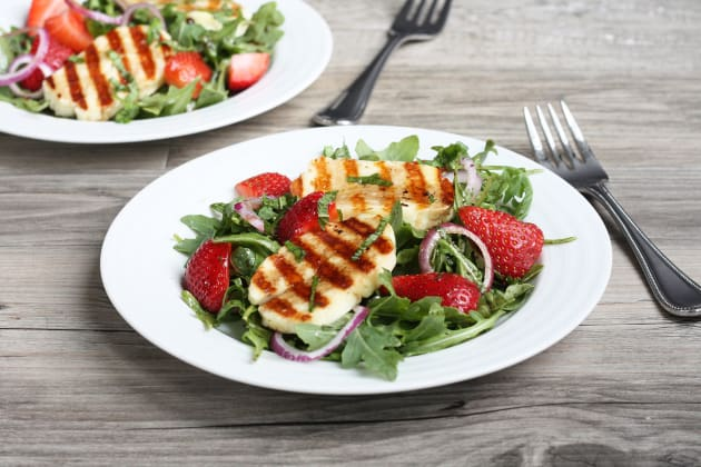 Grilled Halloumi Strawberry Salad Photo