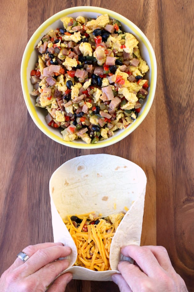Southwestern Breakfast Burritos Picture