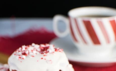 Red Velvet Peppermint Donuts Picture