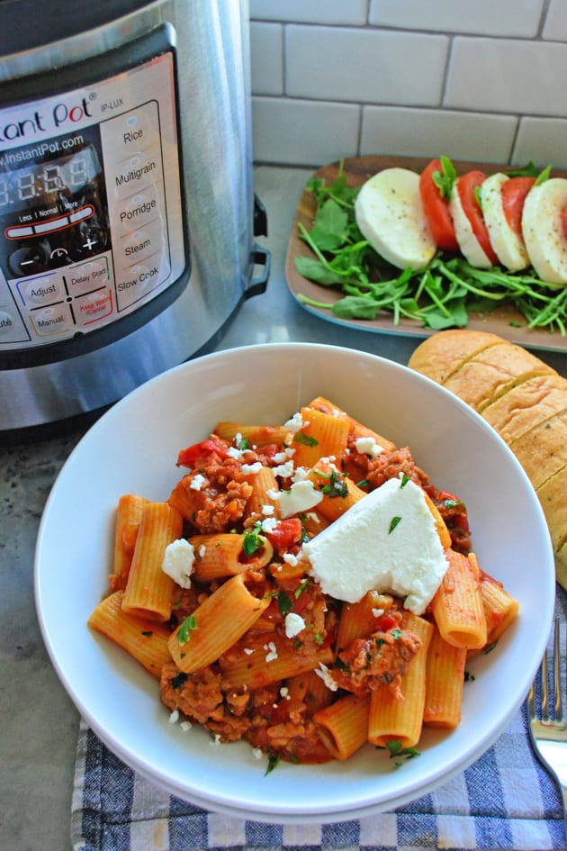 Instant Pot Sausage & Rigatoni with Goat Cheese Picture