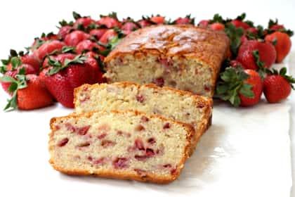 Strawberry Rum Pound Cake