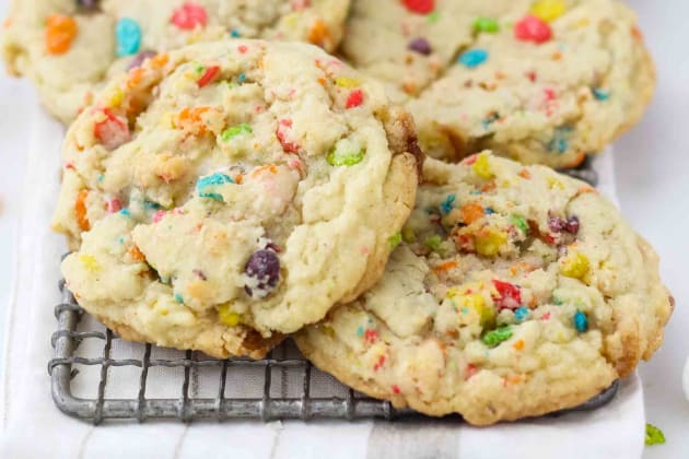 Fruity Pebble Marshmallow Cookies Photo