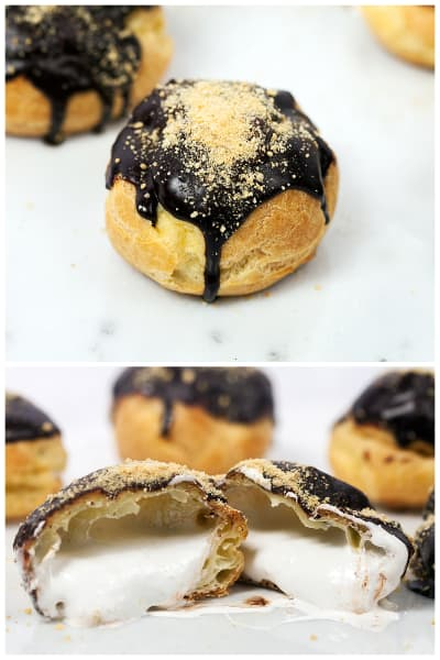S'mores Cream Puffs Picture