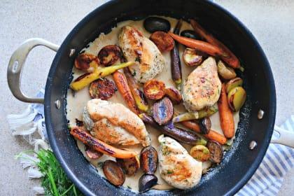 One Pot Chicken Vegetable Skillet