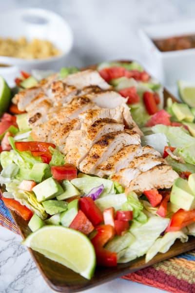 Chicken Fajita Salad Pic