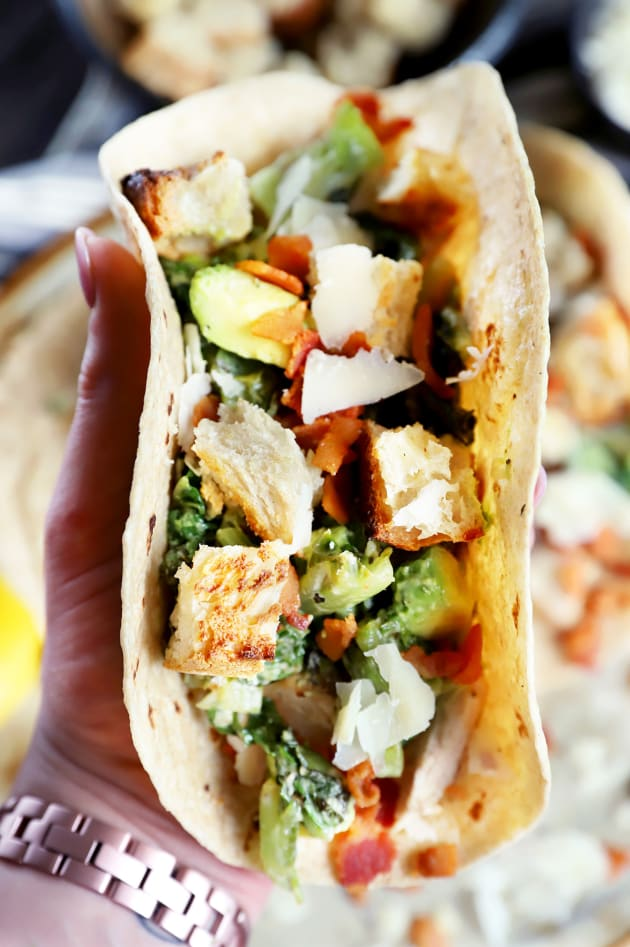 Charred Caesar Salad Avocado Tacos Image
