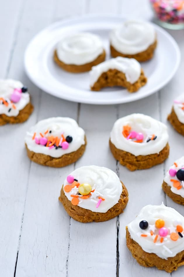 Gluten Free Pumpkin Cookies with Cream Cheese Frosting Pic