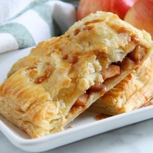 Puff pastry apple slab pie photo