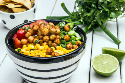 Avocado Lime Roasted Chickpea Salad