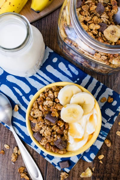 File 2 Peanut Butter Banana Chocolate Chunk Granola