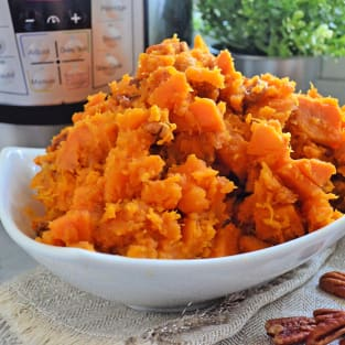 Instant pot candied sweet potatoes photo