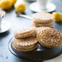 Lemon Ginger Pizzelle Sandwich Cookies Recipe