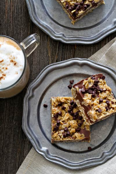 No Bake Chocolate Peanut Butter Oatmeal Bars Picture