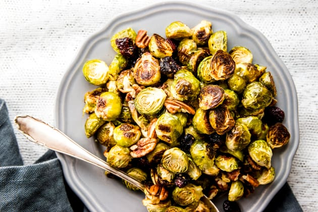 Cranberry Pecan Roasted Brussels Sprouts Photo