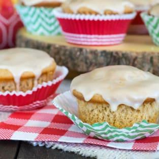 Glazed apple cider muffins photo