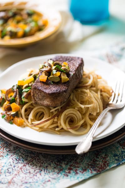 Moroccan-Style Pork with Apple Noodles Image