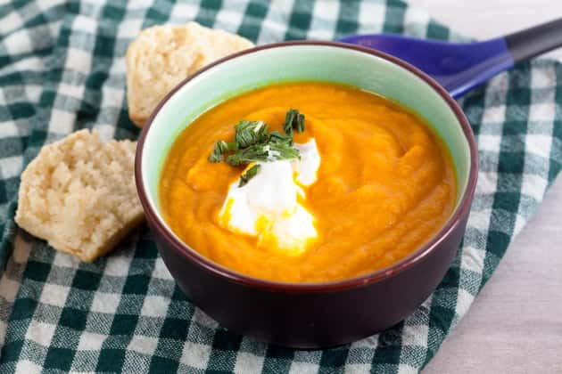 Roasted Carrot Ginger Soup Photo