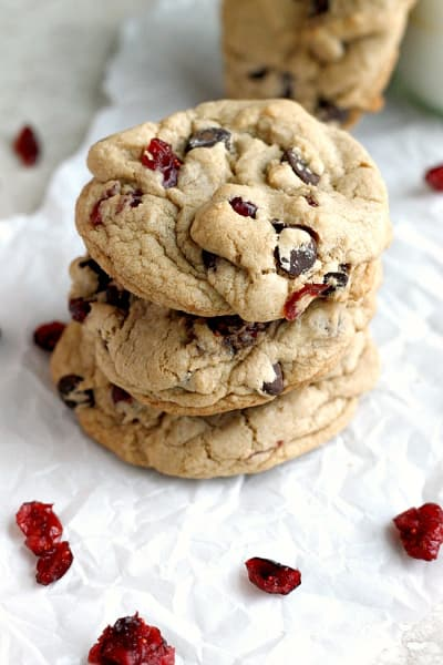 Dark Chocolate Cranberry Cookies Image