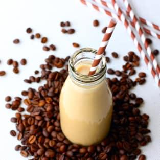 Iced coffee cocktail photo
