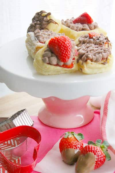 Chocolate Covered Strawberry Tarts Picture